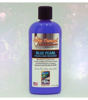 White Diamond Blue Pearl Polish