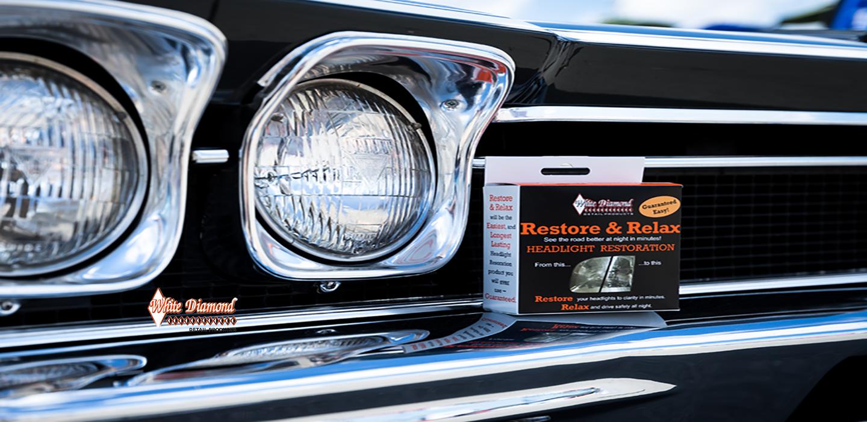 White Diamond Restore & Relax Headlight Restoration